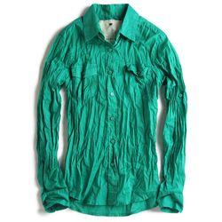 Camisa-de-Tecido-Verde-Feminina