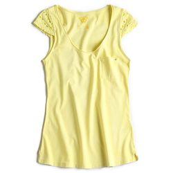 T-shirt-Gola-V-Amarela-Feminina