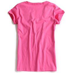 T-shirt-Gola-V-Rosa-Feminina