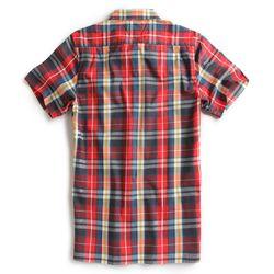 Camisa-de-Tecido-Manga-Curta-Vermelha