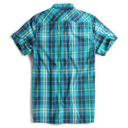Camisa-de-Tecido-Manga-Curta-Azul-Turquesa
