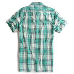 Camisa-de-Tecido-Manga-Curta-Off-White-Verde
