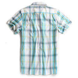 Camisa-de-Tecido-Manga-Curta-Branco-Azul