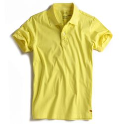 Camisa-Polo-Stretch-Lisa-Especial-Amarelo-Claro