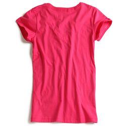 T-shirt-Gola-V-Pink-Feminina