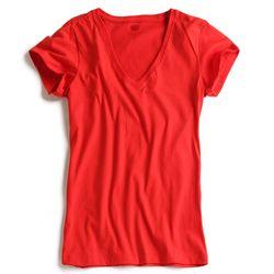 T-shirt-Gola-V-Vermelha-Feminina