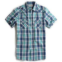 Camisa-de-Tecido-manga-Curta-Azul