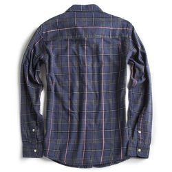 Camisa-de-Tecido-Flanelada-Manga-Longa-Azul-Marinho-Vinho