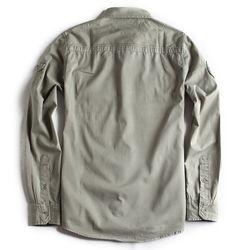 Camisa-de-Tecido-Manga-Longa-Verde-Militar