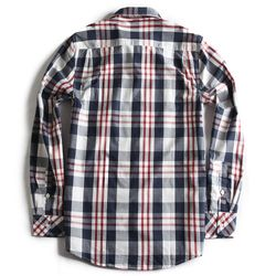 Camisa-de-Tecido-Xadrez-Manga-Longa-Marinho-off-White