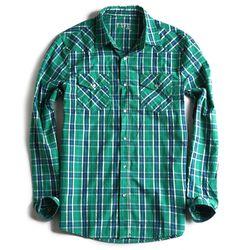 Camisa-de-Tecido-Xadrez-Manga-Longa-Verde