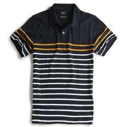 Camisa-Polo-Listrada-Marinho-Mostarda