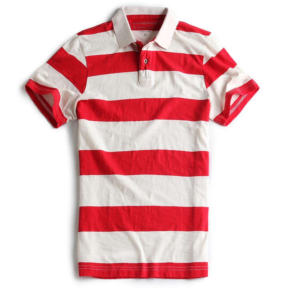 Camisa-Polo-Listrada--Vermelha-Off-White