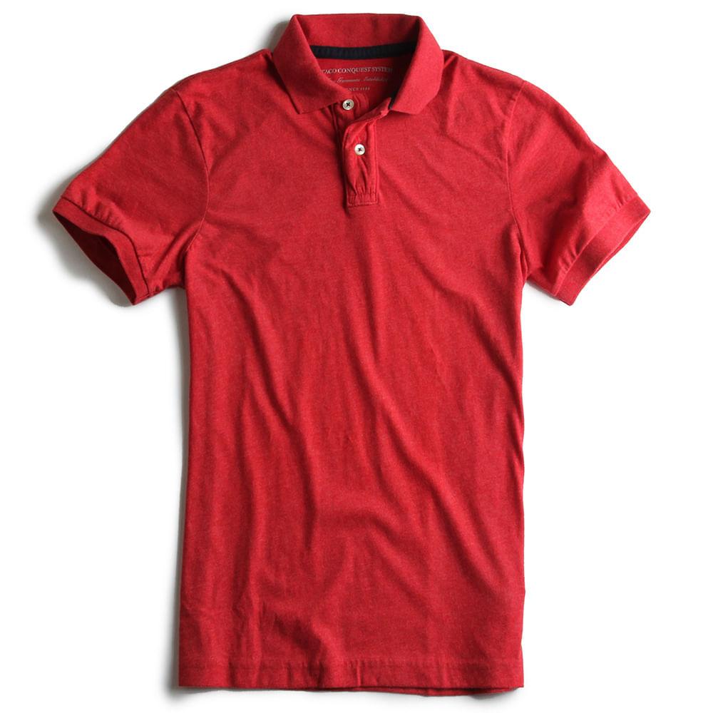Camisa-Polo-Estretch-Lisa-Especial-Vermelho-Mescla