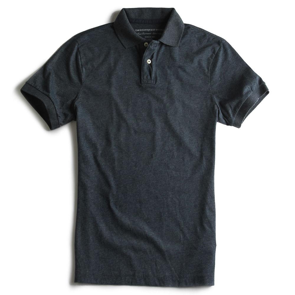 Camisa-Polo-Estretch-Lisa-Especial-Marinho-Mescla