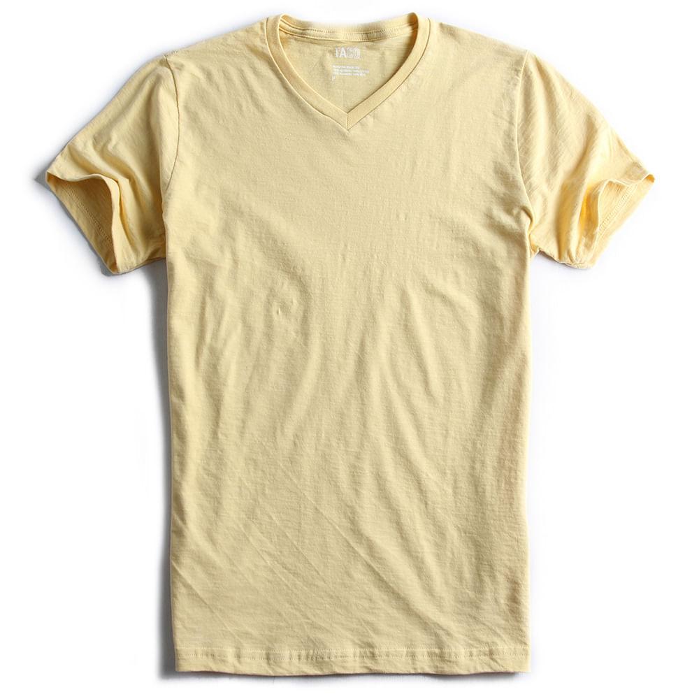 T-shirt-Gola-V-Flame-Amarelo-Claro