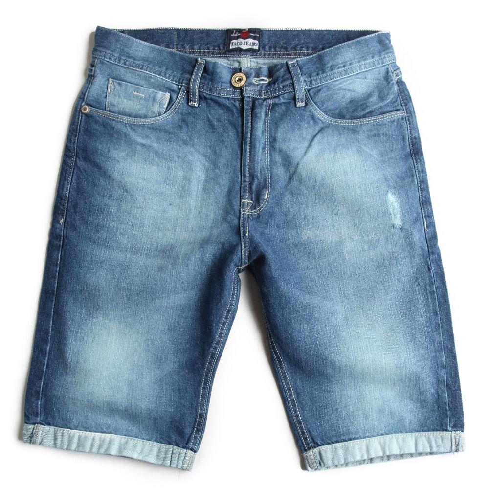 Bermuda-Jeans-Slim-Destroyer-Used