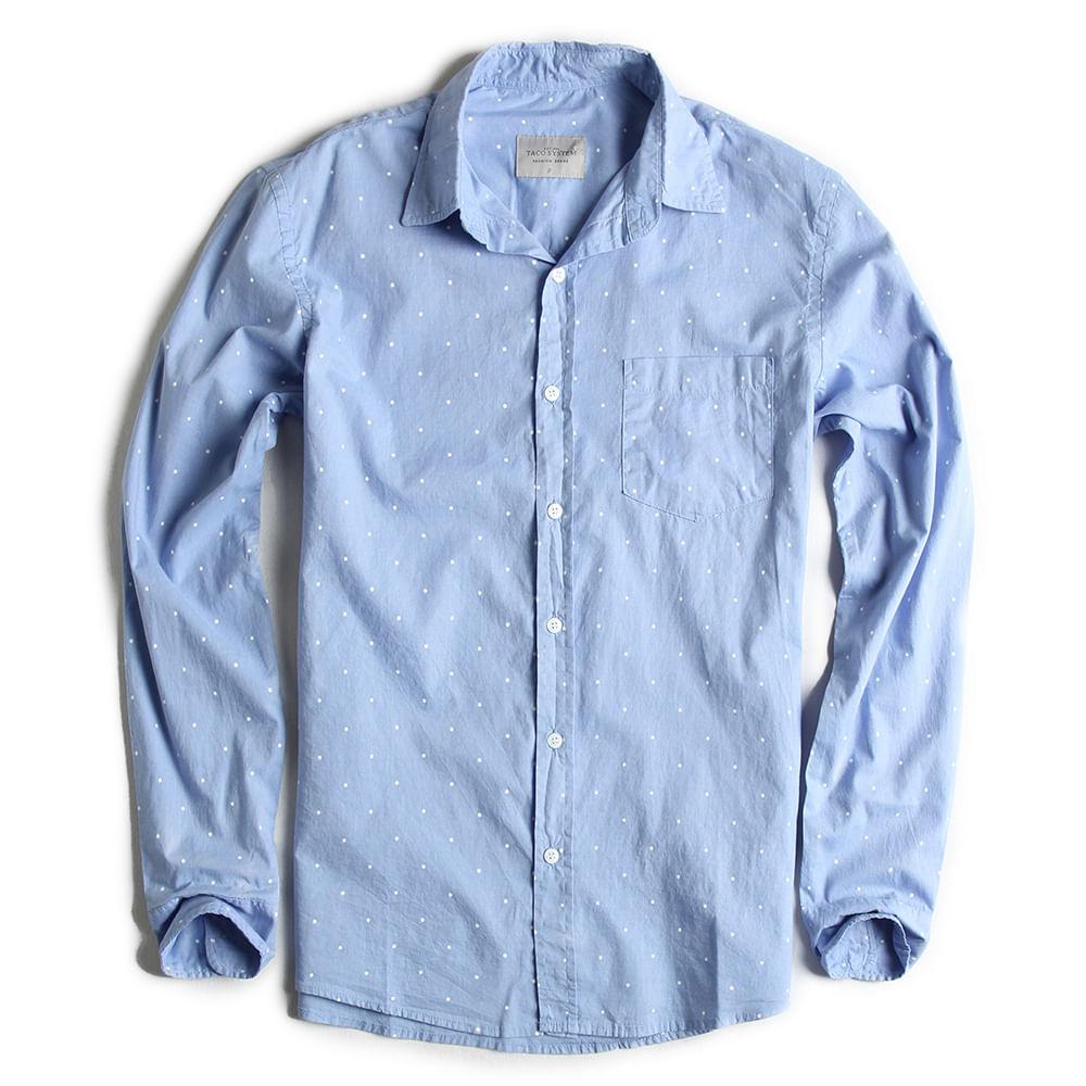 Camisa-de-Tecido-Manga-Longa-Azul