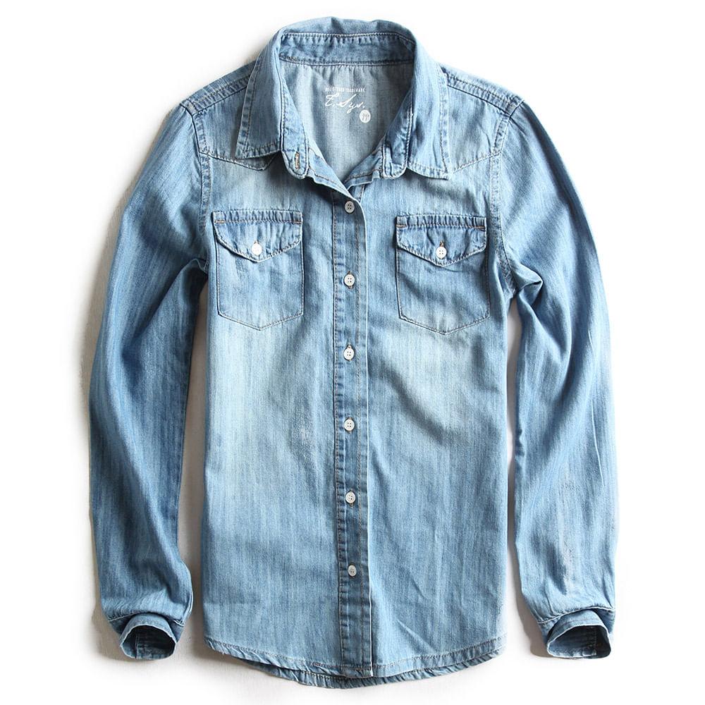 Camisa-de-Tecido-Jeans-Destroyer-Feminina