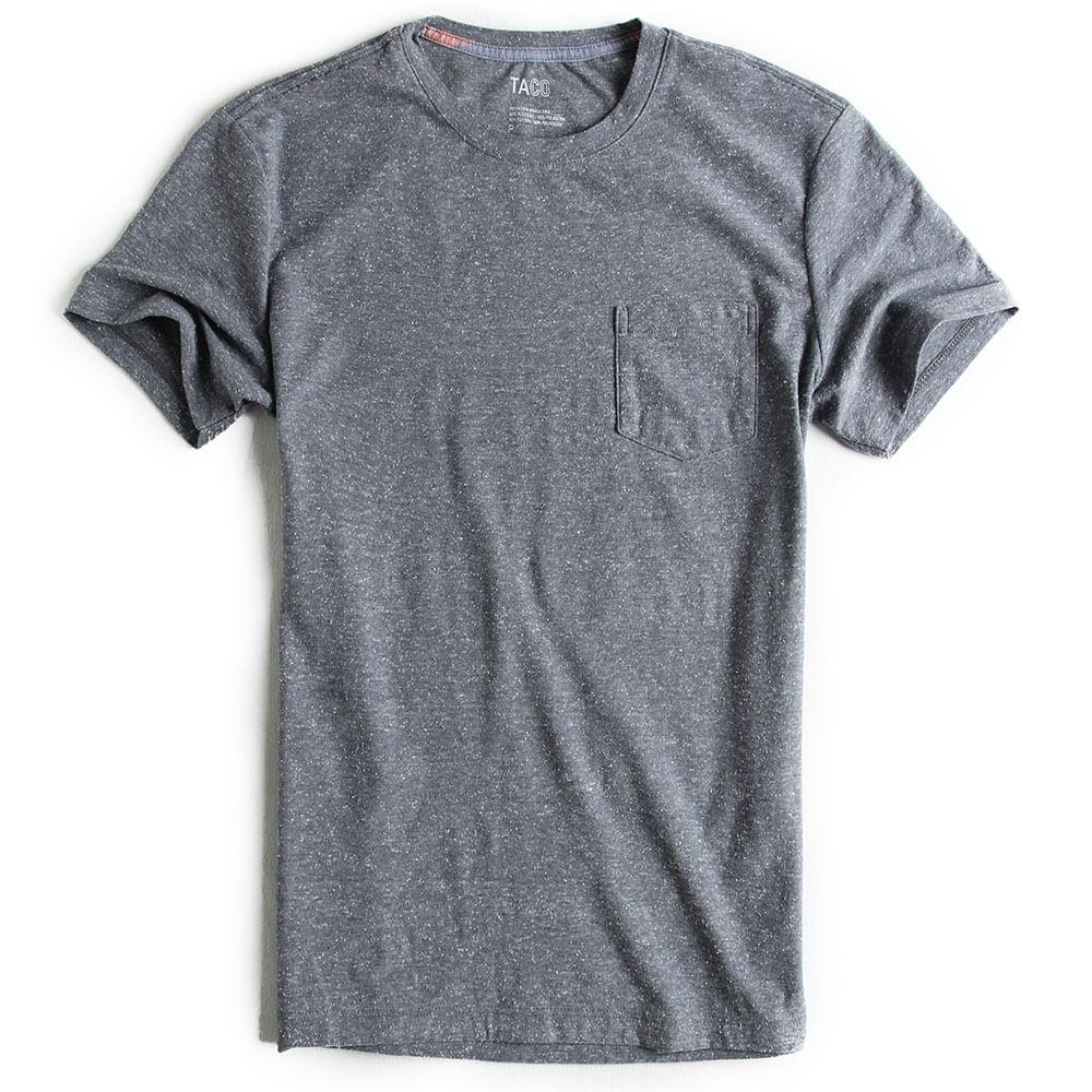 T-shirt-com-Bolso-Lisa-Azul-Marinho