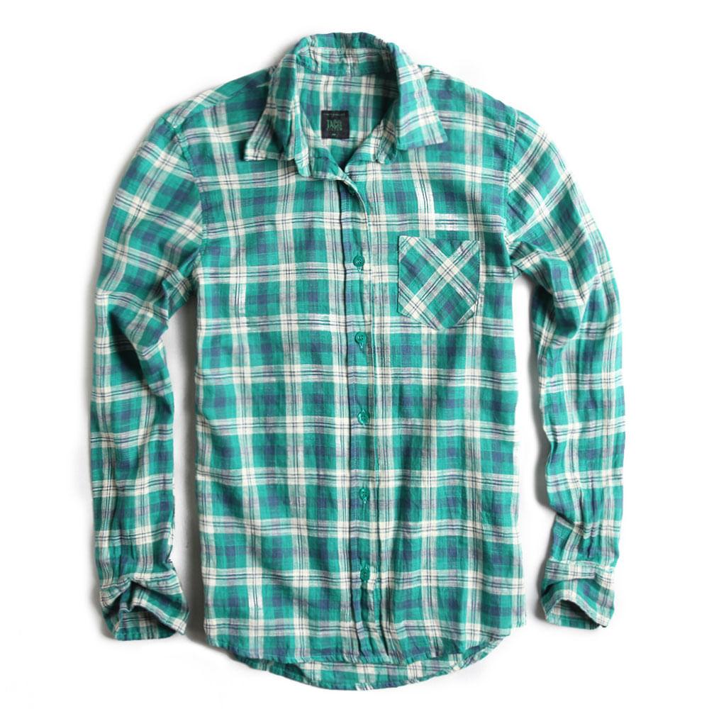 Camisa-de-Tecido-Xadrez-Verde-Feminina