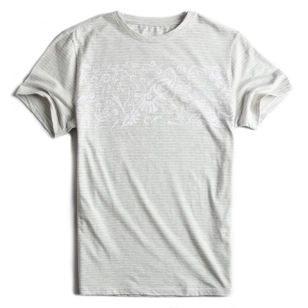 T-shirt-Listrada-Cru-Mescla-Off-White