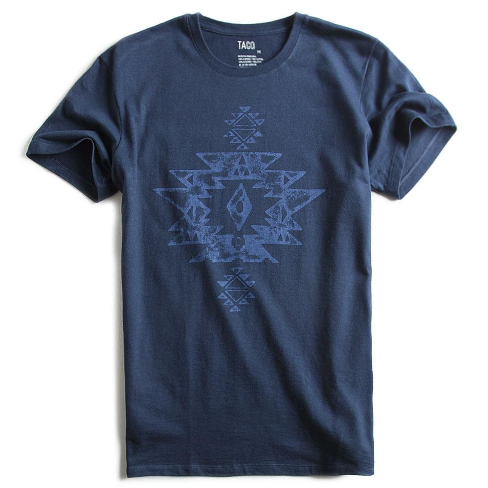 T-shirt-Fit-Estampada-Azul-Marinho