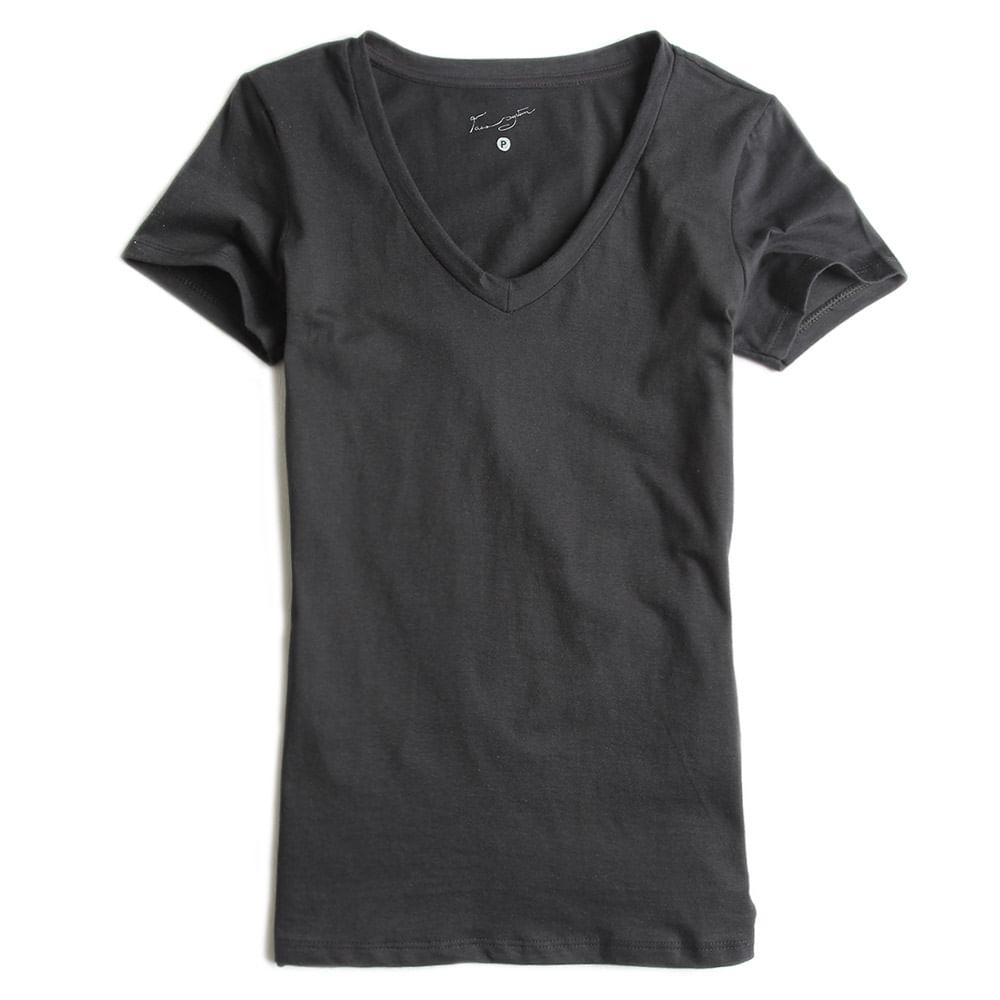 Camisa-Gola-V-Peletizada-Preta-Feminina