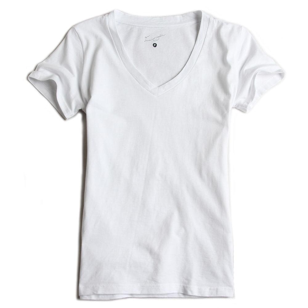 Camisa-Gola-V-Peletizada-Branca-Feminina