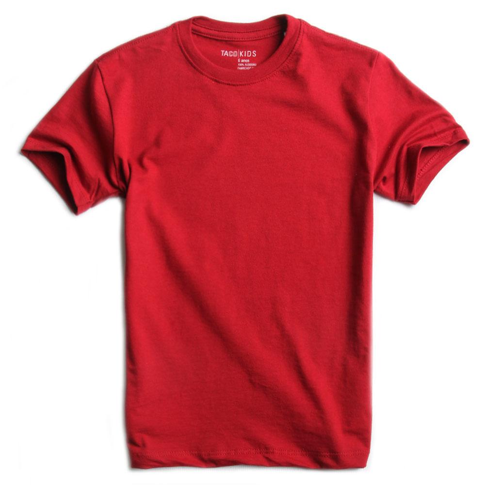T-shirt-Basica-Vermelho-Inverno-Infantil-Masculino