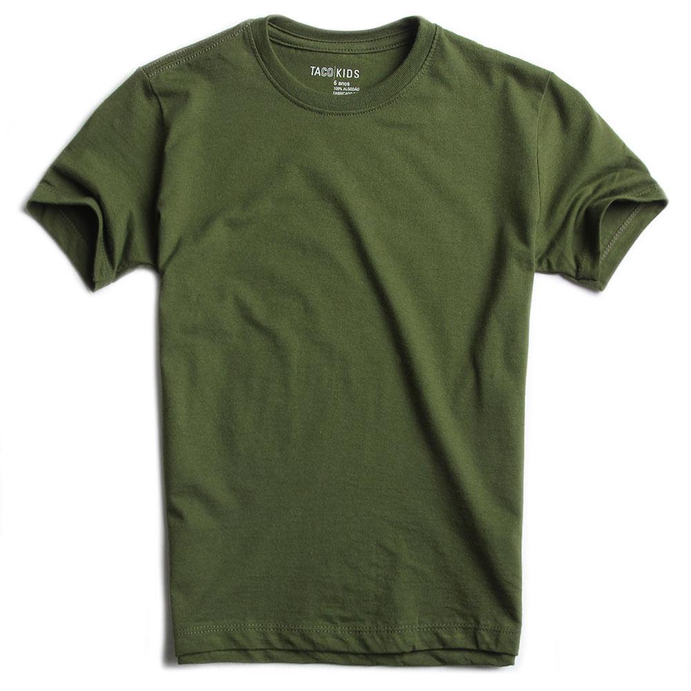 T-shirt-Basica-Verde-Musgo-Infantil-Masculino