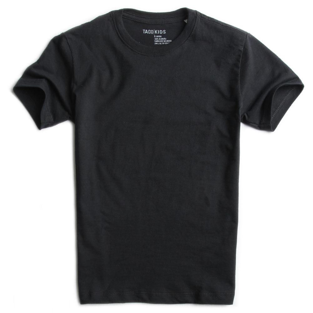 T-shirt-Basica-Preta-Infantil-Masculino