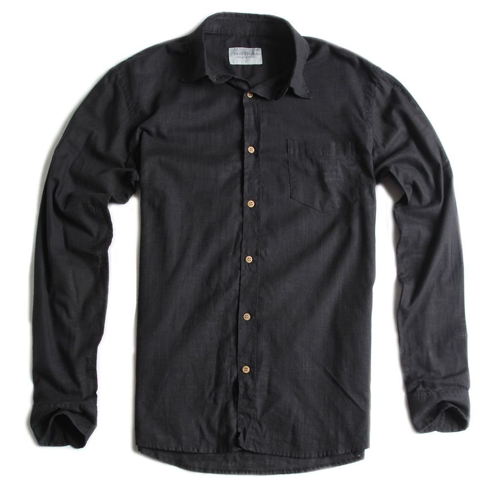 Camisa-de-Tecido-Manga-Longa-Preta