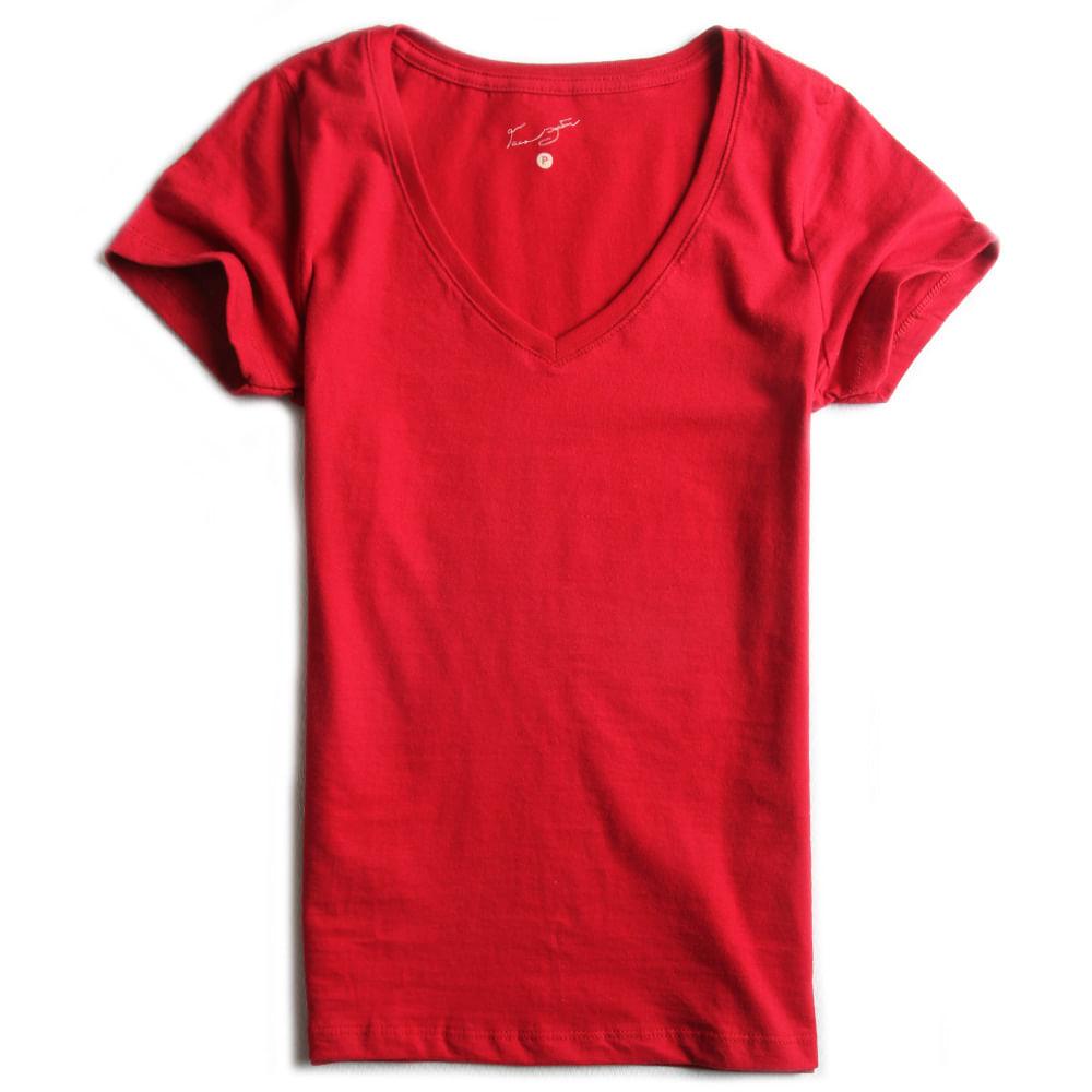 Camisa-Malha-Gola-V-Peletizada-Vermelha-Feminina