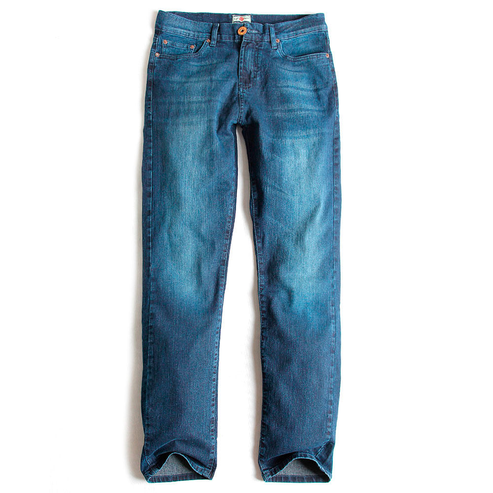 Calca-Jeans-Comfort-Fit-Vintage-Stone-Used