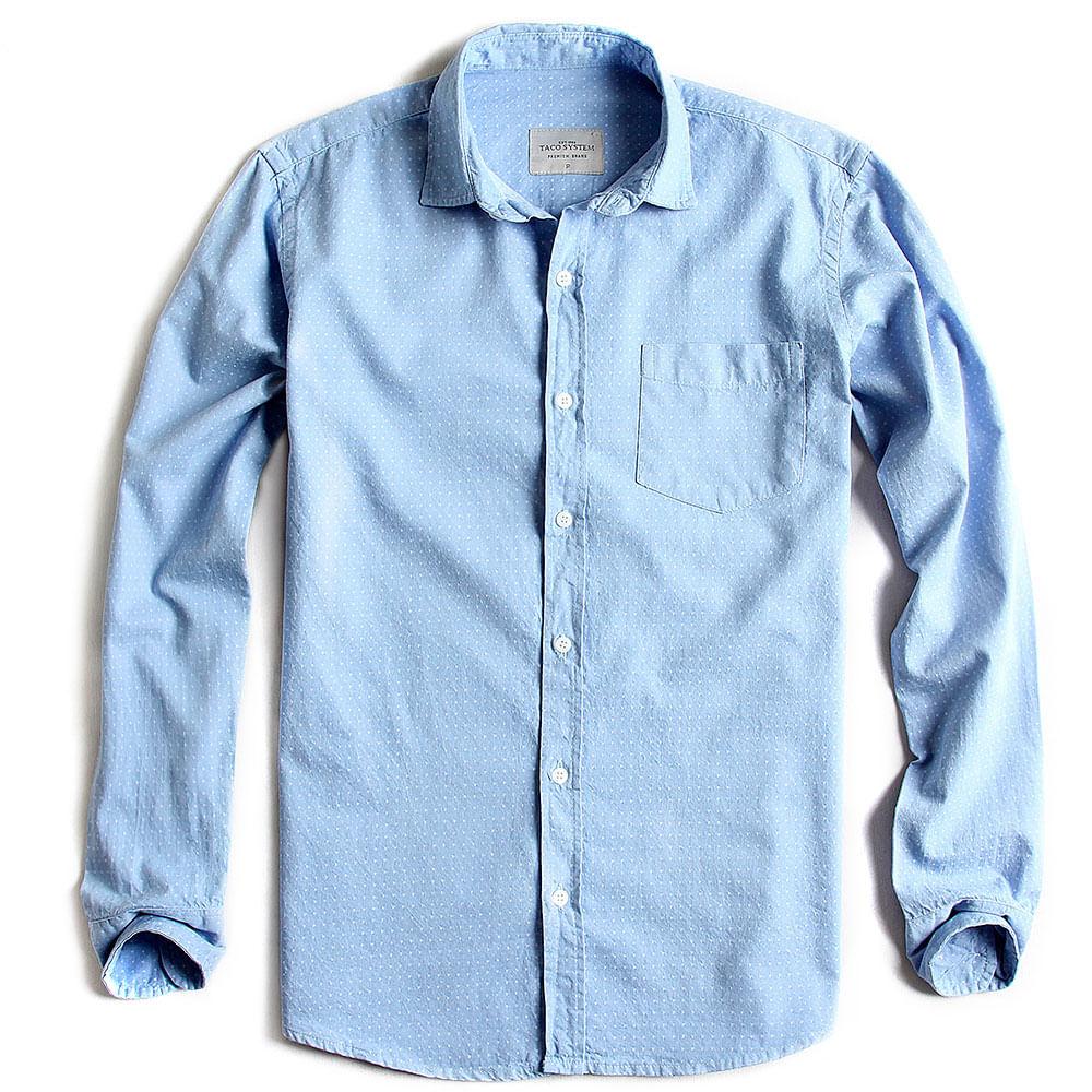 Camisa-de-Tecido-Estampada-Manga-Longa-Jeans