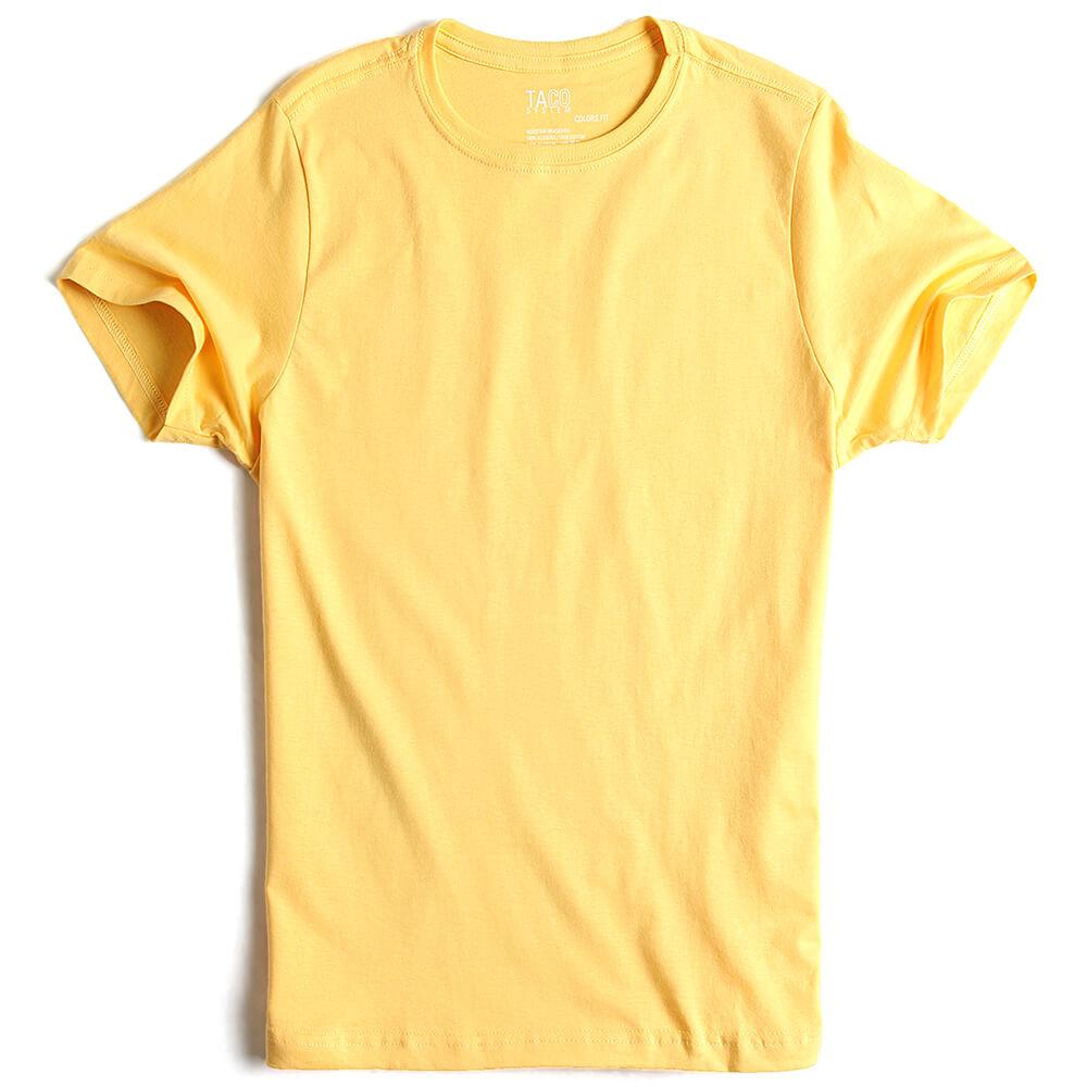 T-shirt-Basica-Fit-Amarelo-Claro