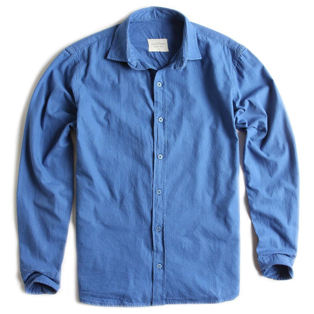 Camisa-de-Tecido-Jeans-Manga-Longa-Azul-Indigo
