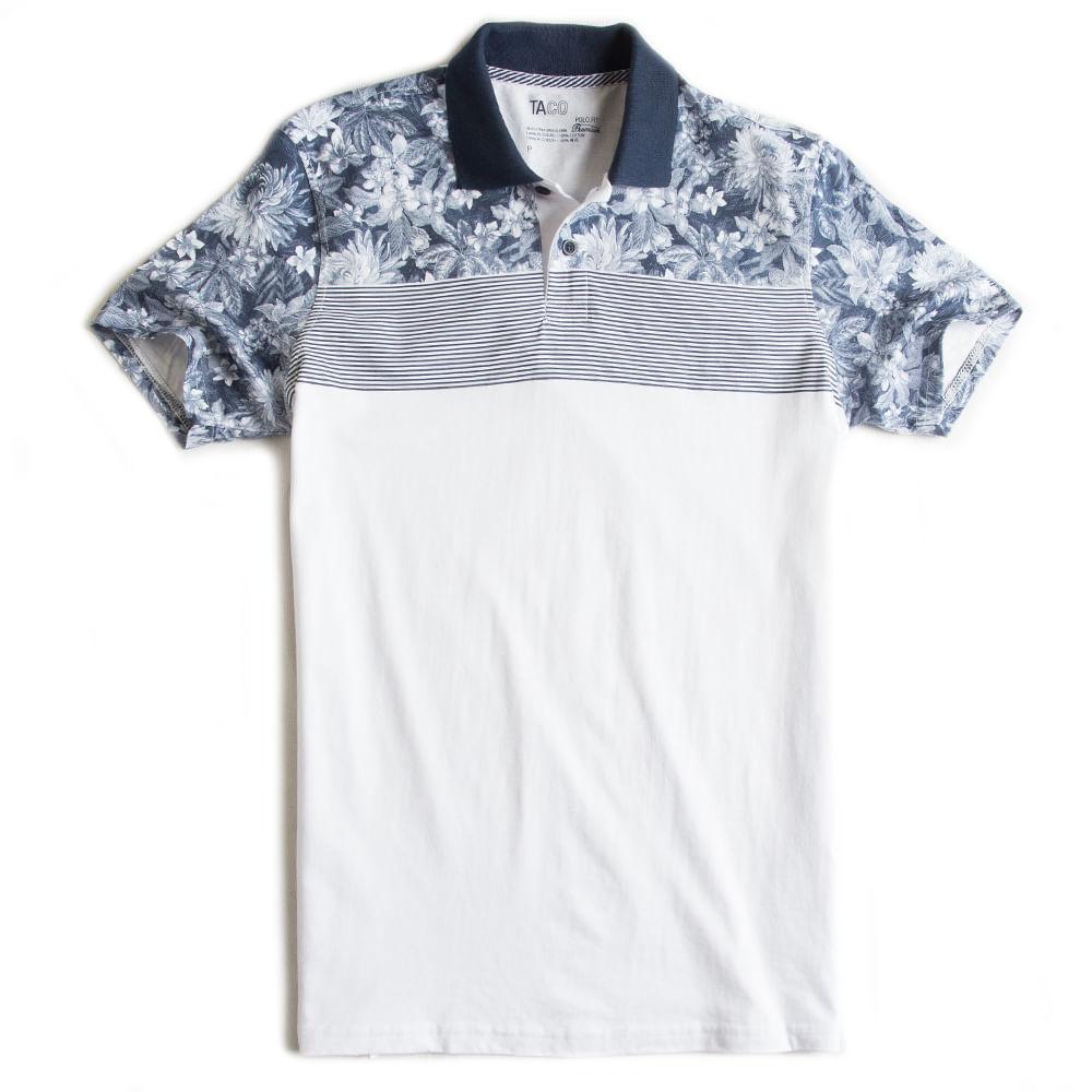 Camisa-Polo-Especial-Estampada-Branca