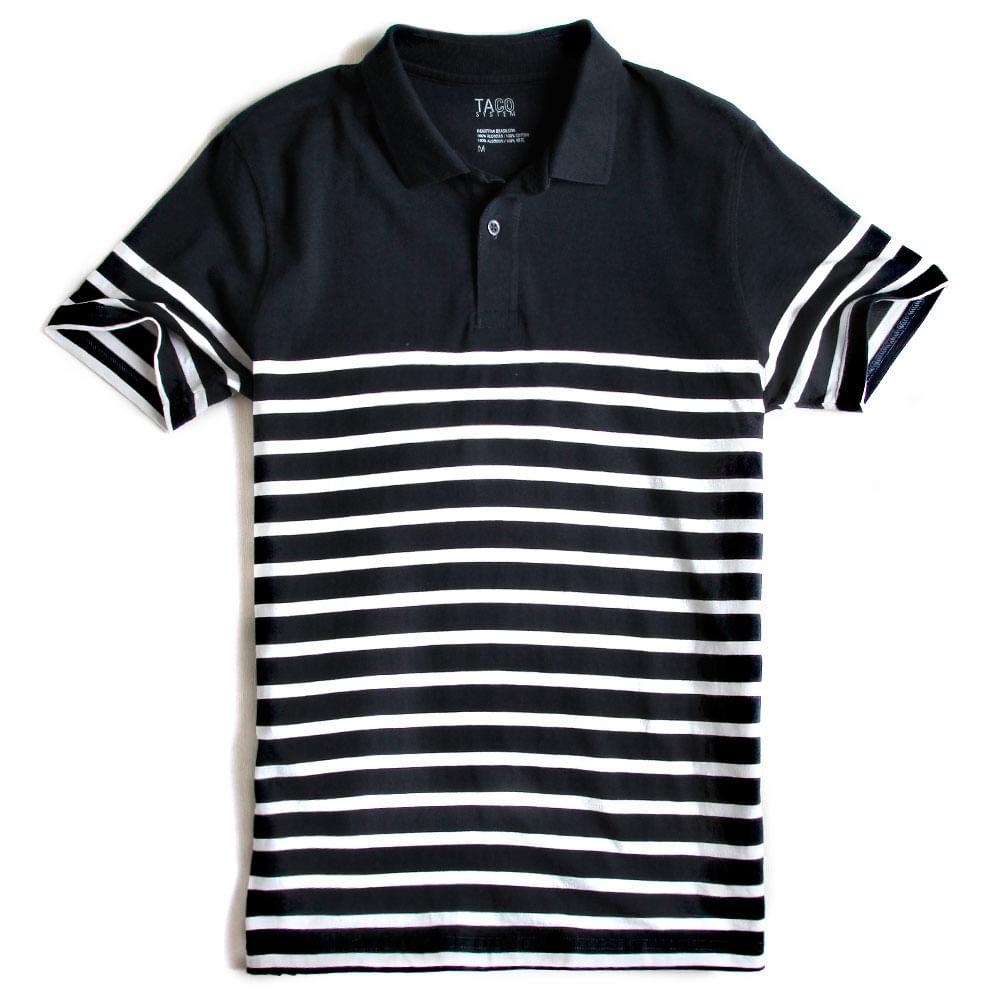 Camisa-Polo-Listrada-Azul-Marinho---Branco