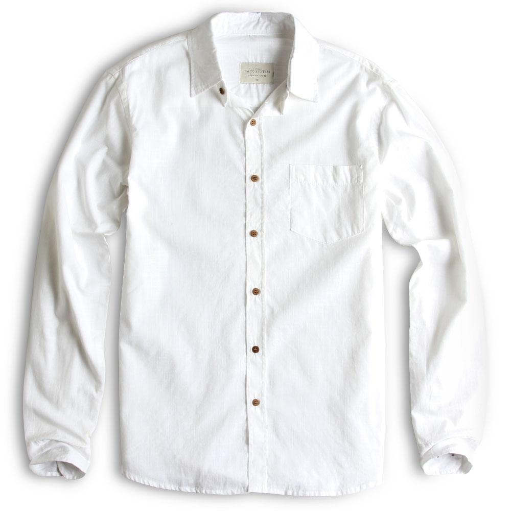 Camisa-De-Tecido-Manga-Longa-Branca