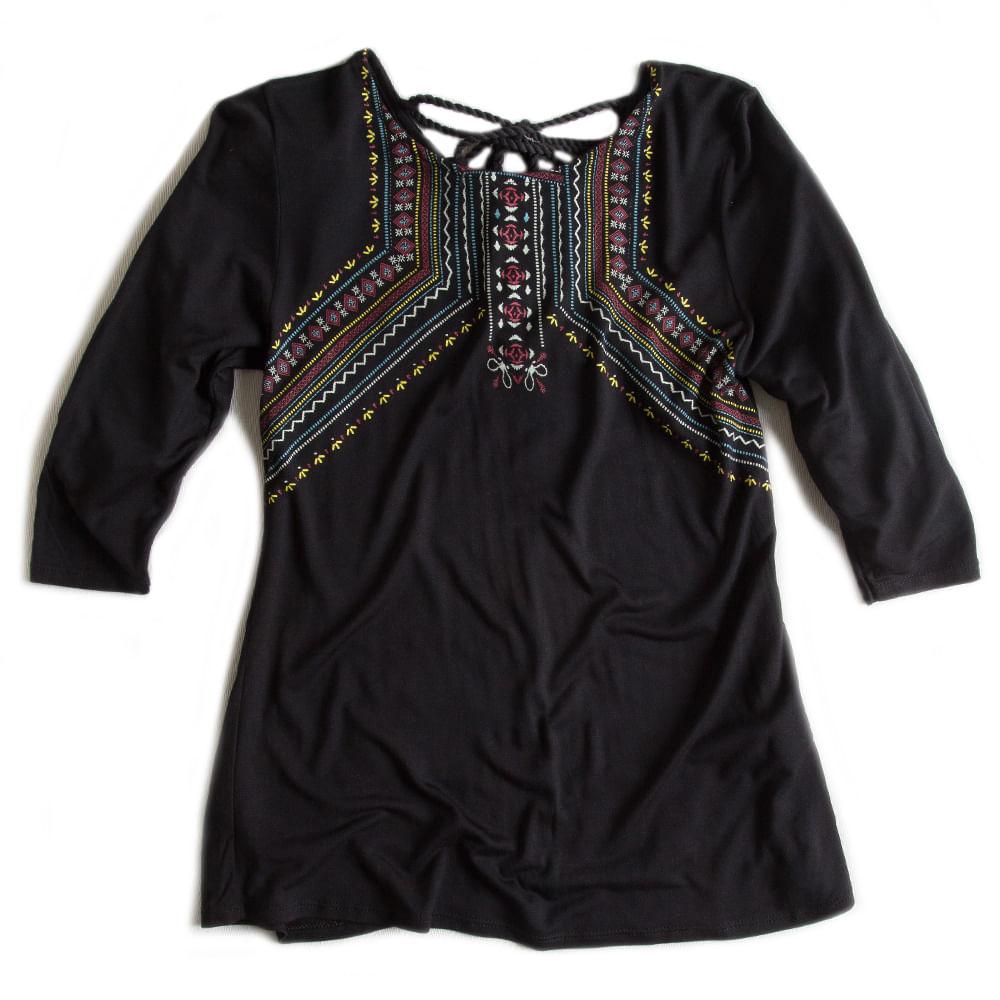 Camisa-Bata-Preta-Feminina