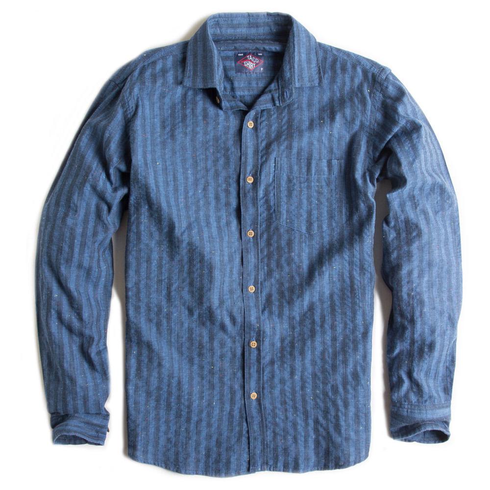 Camisa-De-Tecido-Listrada-Manga-Longa-Azul