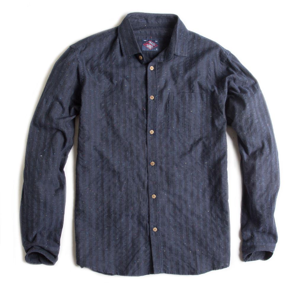 Camisa-De-Tecido-Listrada-Manga-Longa-Azul-Marinho