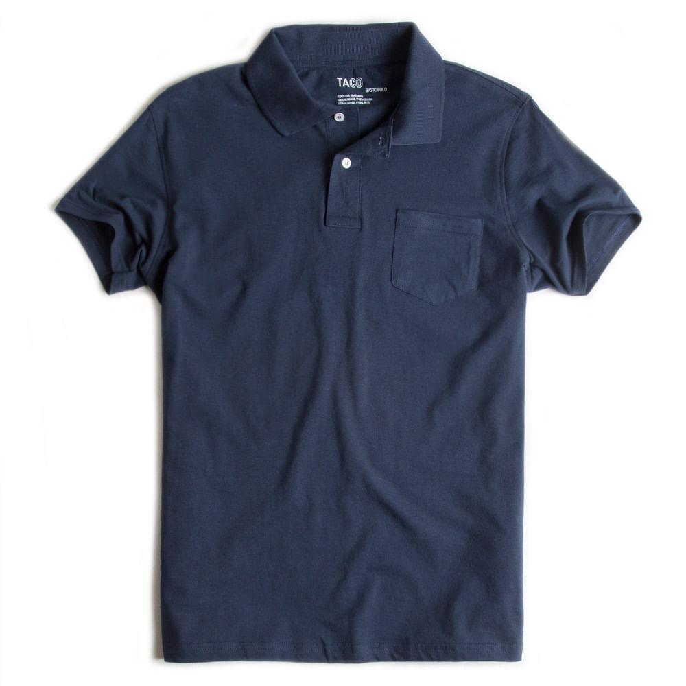 Camisa-Polo-Basica-Com-Bolso-Azul-Marinho