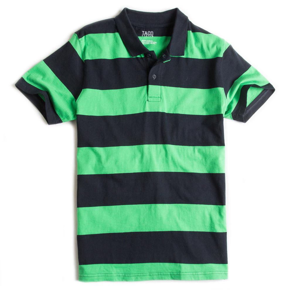 Camisa-Polo-Listrada-Verde---Marinho