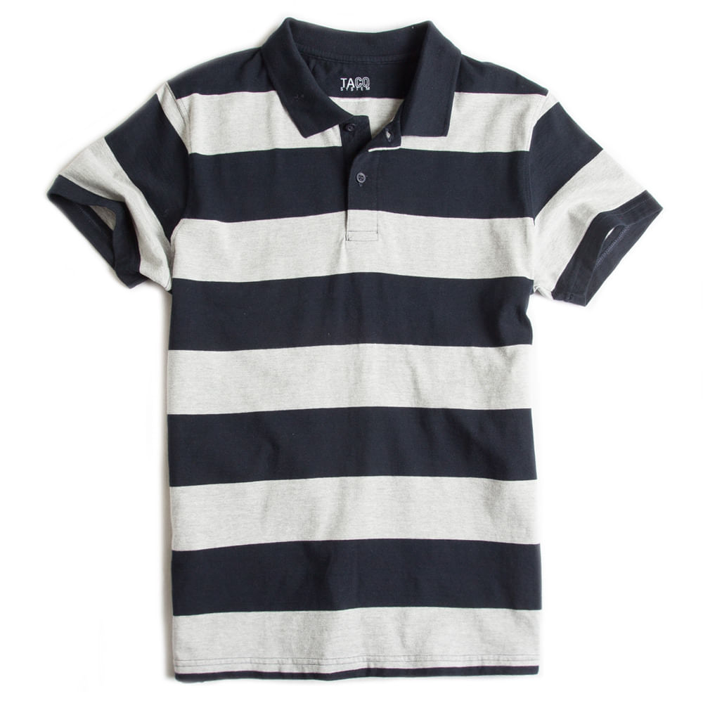 Camisa-Polo-Listrada-Cinza-Mescla---Marinho