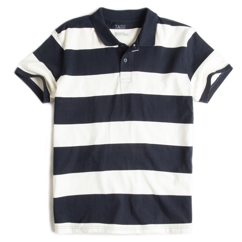 Camisa-Polo-Listrada-Off-White---Marinho