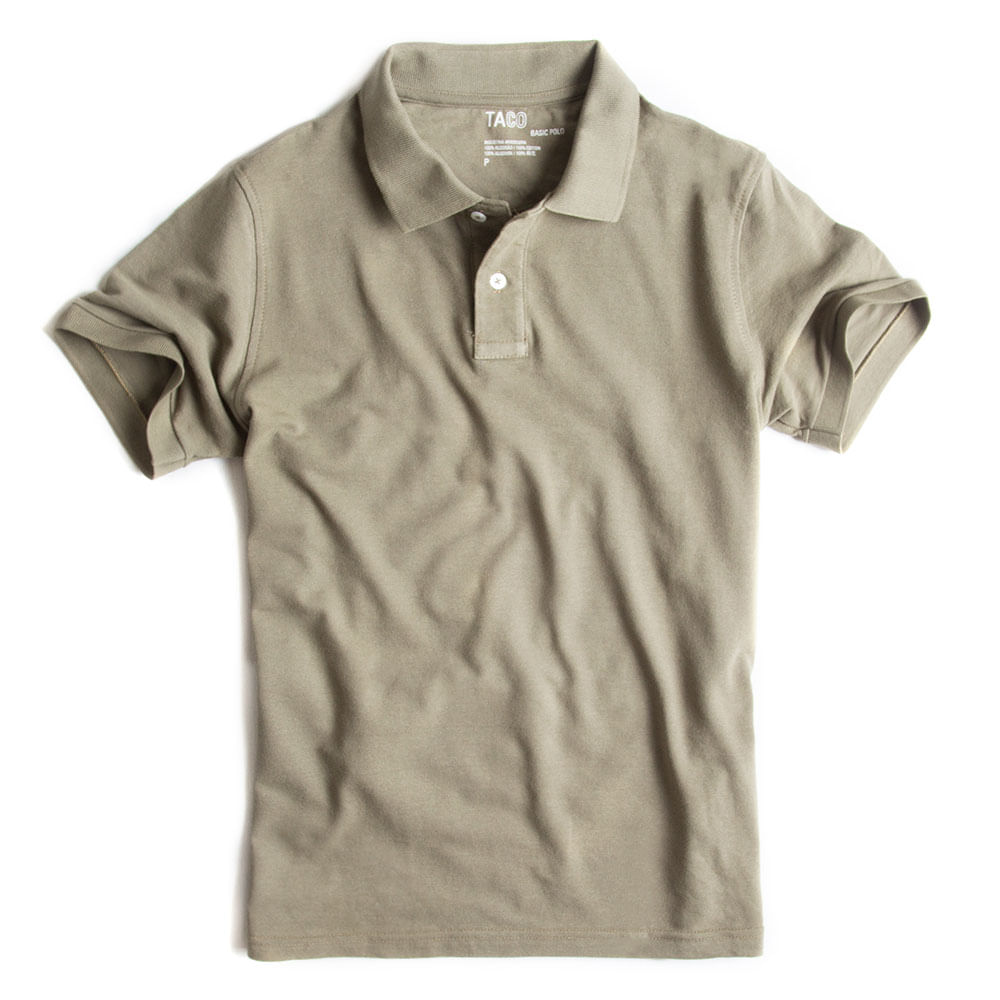 Camisa-Polo-Basica-Verde-Militar
