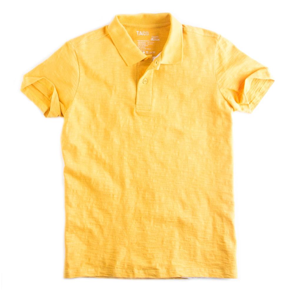 Camisa-Polo-Flame-Premium-Amarelo-Escuro